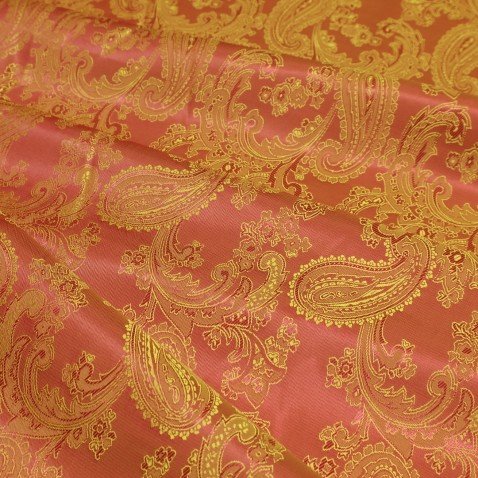Paisley Jacquard Lining Dark Orange