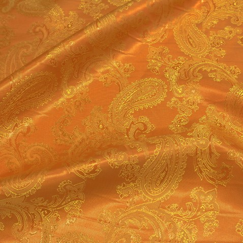 Paisley Jacquard Lining Cool Copper