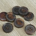 Horn Buttons U2607 Brown